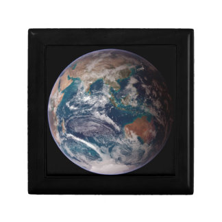 Earth From Space Trinket Box
