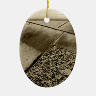 Earth from the air ceramic ornament