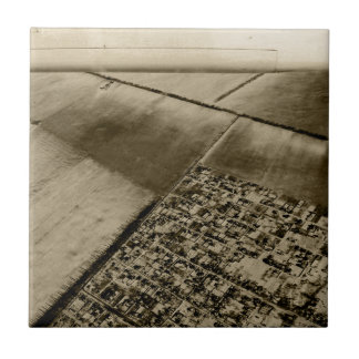Earth from the air ceramic tile