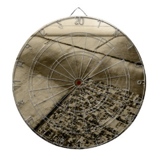 Earth from the air dartboard