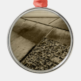 Earth from the air metal ornament