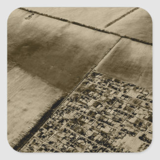 Earth from the air square sticker