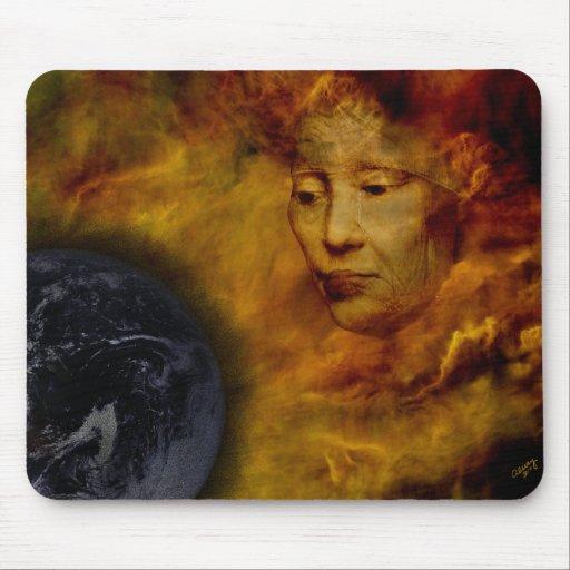 Earth Gaia Environment Digital Collage Mousepad