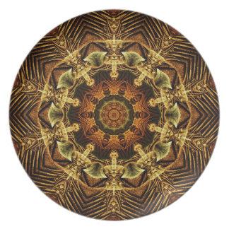 Earth Gate Mandala Party Plates
