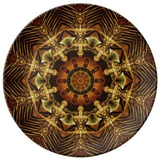 Earth Gate Mandala Porcelain Plates