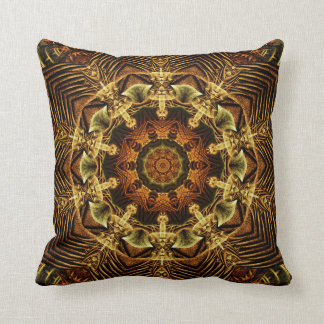Earth Gate Mandala Throw Pillow