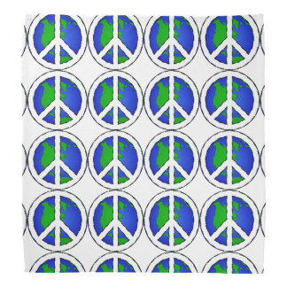 Earth Global Peace Sign  Bandanna
