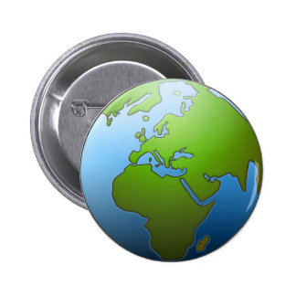 Earth Globe Button