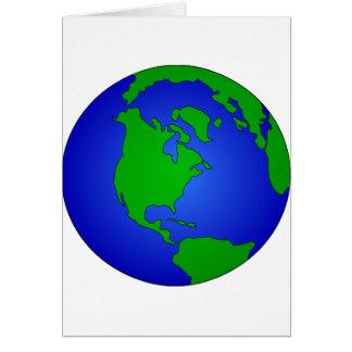 Earth Globe Card