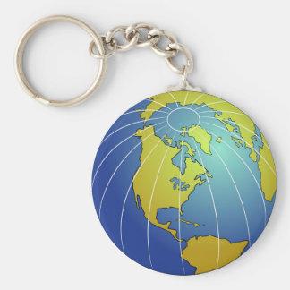 Earth Globe Keychain