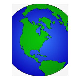 Earth Globe Letterhead