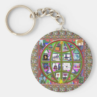 EARTH Globe Planet Cosmos Universe NVN704 GIFTS Basic Round Button Keychain