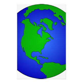 Earth Globe Stationery