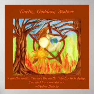 Earth,  Goddess,  Mother,... Print