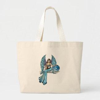 Earth Guardian Angel Fairy Large Tote Bag