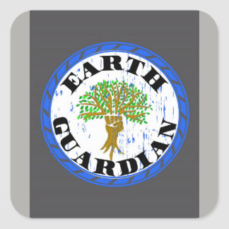 Earth Guardian Sticker, Yes, I Love This Planet Square Sticker