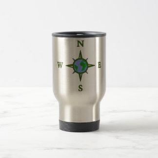 Earth Guides Explorer Travel Compass Travel Mug