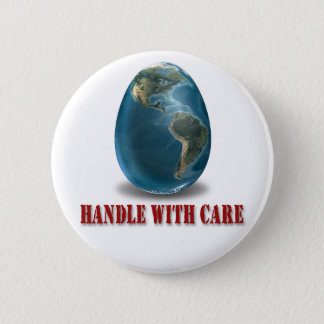 Earth Handle with Care Button