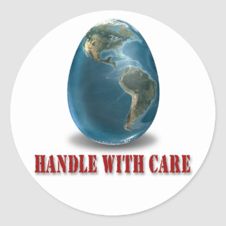 Earth Handle With Care Sticker