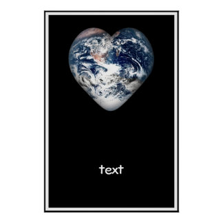 Earth Heart (Add Background Color) Print
