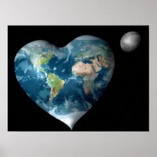 Earth Heart Print