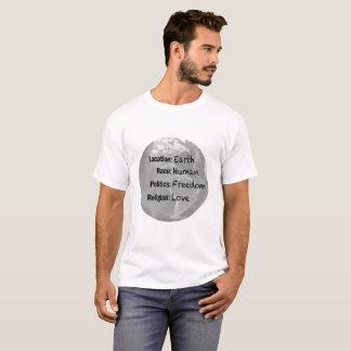 Earth Human Freedom Love T-shirt