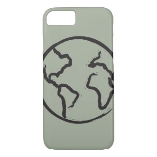 Earth illustrated iPhone case