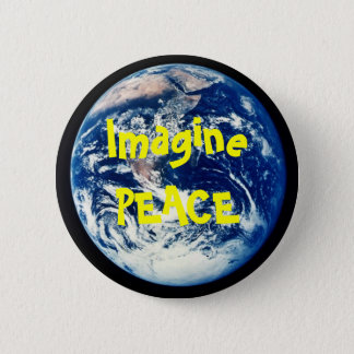 earth, ImaginePEACE 2 Inch Round Button