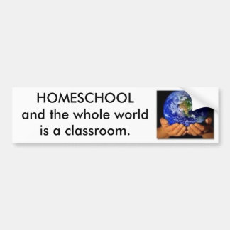 Earth in our Hands HOMESCHOOL Bumper Stickers
