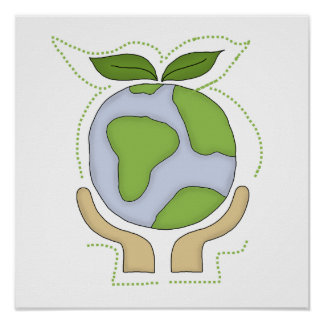 Earth In Our Hands T-shirts and Gifts Poster