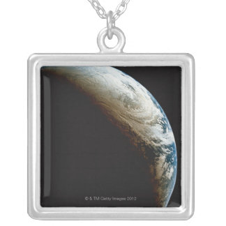 Earth in Shadow and Light Silver Plated Necklace