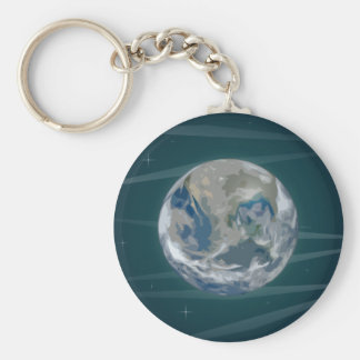 Earth In Space Keychain
