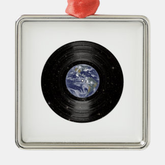 Earth In Space Vinyl LP Record Christmas Ornament