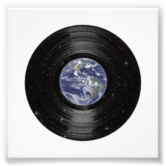 Earth In Space Vinyl LP Record Photo Print