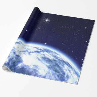 Earth in Space Wrapping Paper
