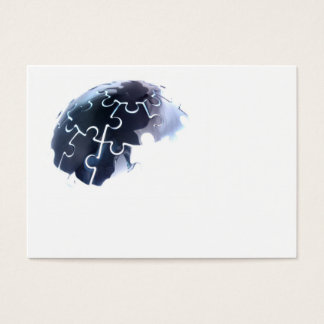 Earth jigsaw glow business cards