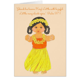 Earth Joyful~Islands Rejoice~Scripture~Hawaii Card