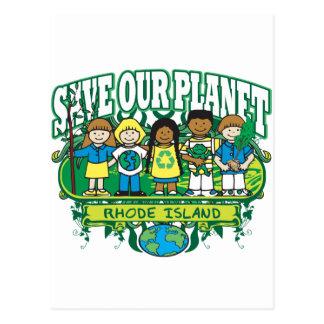 Earth Kids Rhode Island Postcard