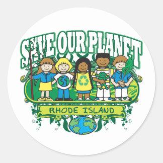 Earth Kids Rhode Island Round Sticker