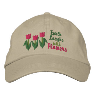 Earth Laughs in Flowers Embroidered Hat