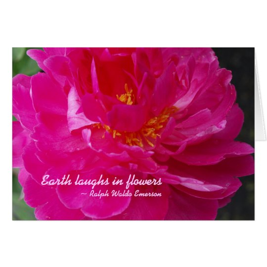 Earth laughs in flowers Notecard
