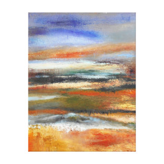 Earth Layers Abstract Canvas Print
