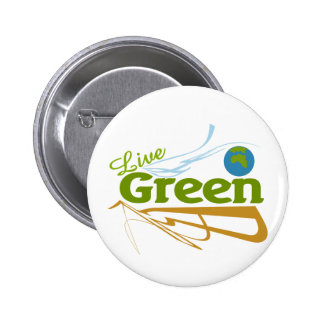 earth live green pinback buttons