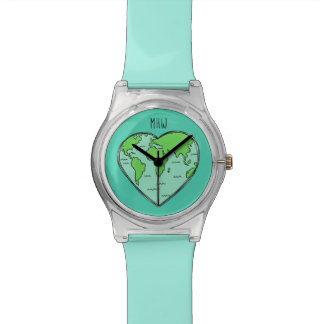 Earth Love custom monogram watches