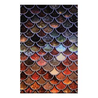 Earth Luxury Glitter Mermaid Scales Stationery