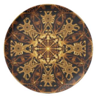 Earth Machine Mandala Dinner Plate