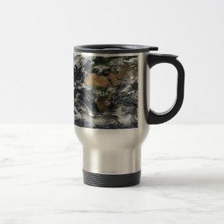 Earth map 15 oz stainless steel travel mug