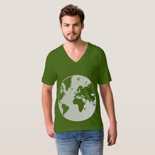 Earth / Men's American Apparel Fine Jersey V-neck T-Shirt