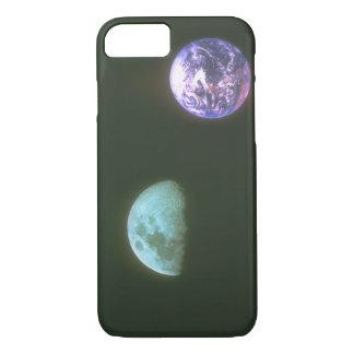 Earth/Moon. (earth;moon;_Space Scenes iPhone 7 Case