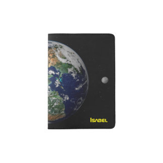 Earth & Moon from Space Passport Holder